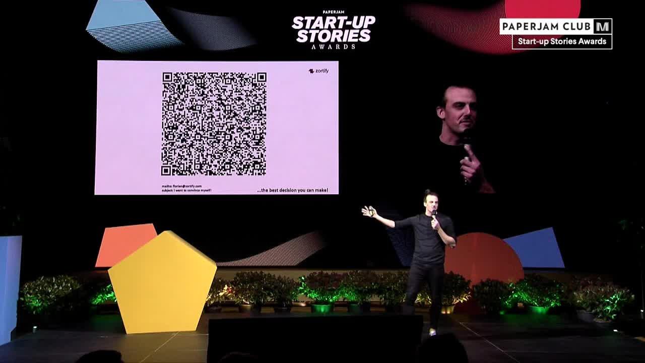 Start-up Stories Awards 2019 - Zortify - Florian Feltes