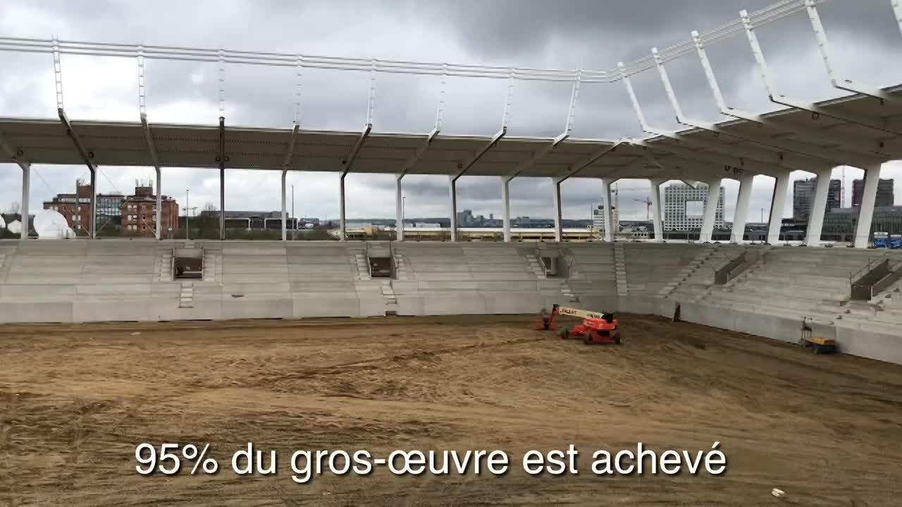 Visite chantier du stade 3 avril 2019